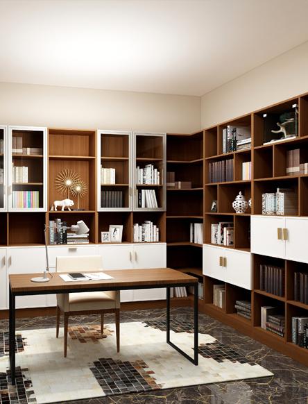 墨香四溢的书房空间