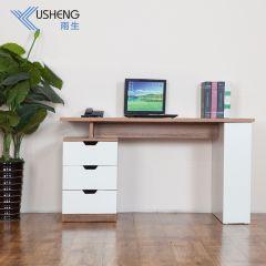 雨生家具电脑桌台式小书桌电脑桌书架书房学习桌1.2米电脑桌家用  深柚木