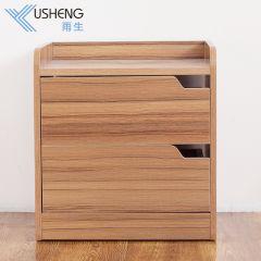 雨生家具简易床头柜现代简约卧室床边柜迷你储物柜床头收纳柜床柜 深柚木色