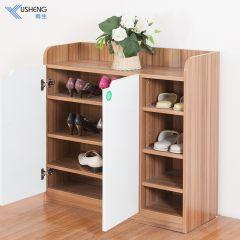 雨生家具现代简约鞋柜多层大鞋柜简易收纳储物柜小户型玄关柜家用 深柚木